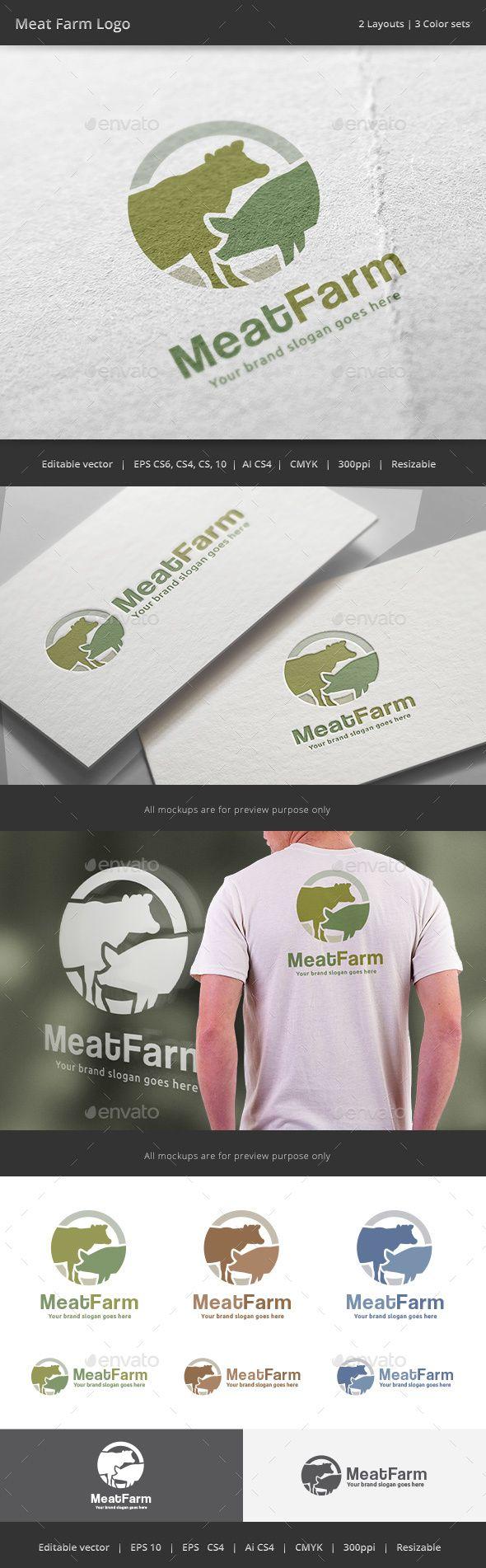 Agri cultures project logo duckdog design - Meat Farm Logo