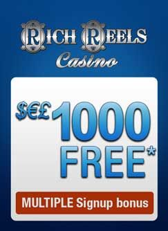Rich Reels Casino part of the CasinoRewardsGroup, of award winning online casinos is here to provide you, with the most entertaining online gambling experience, available on the Internet. Rich Reels Casino showcases all the best games titles from Microgaming, including over 600 Las Vegas style online casino games: blackjack, roulette, slots, video poker, craps, keno, baccarat, progressive jackpots and more!