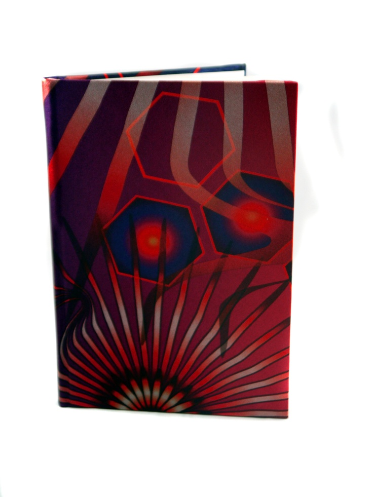 Modern Love Large Luxury A5 Notebook – Red Fire Hexagon