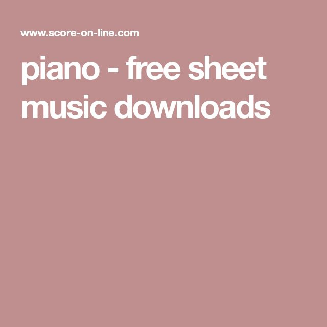 Christmas Canon Piano Solo: Best 25+ Free Sheet Music Download Ideas On Pinterest