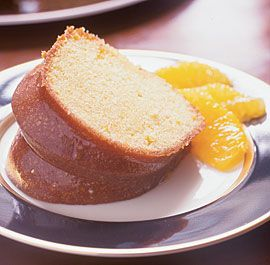 Orange-Soaked Bundt Cake -- Revised delicious recipe from the 50's. Cake can be made from a mix....