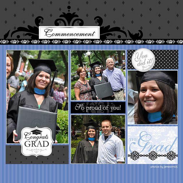 graduation scrapbook layouts | Graduation Word Art Digital Scrapbooking Layout