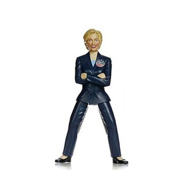 """The Hillary Nutcracker – Are you ready for Hillary to crack your nuts? This is an """"Unusual"""" Hillary nutcracker. Place the nuts inside the upper legs to grip and crack the nuts in their shell. Enjoy cracking nuts with this Hillary Nutcracker. #hillarynutcracker #nutcracker"""