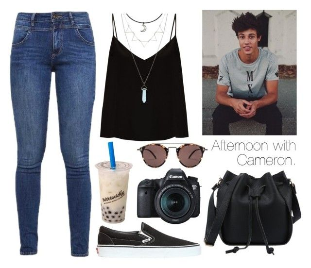 """Afternoon with Cameron."" by sunfayn on Polyvore featuring moda, Raey, Vans, s.Oliver, Eos e Oliver Peoples"