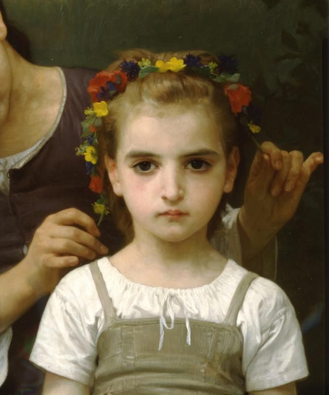 Художник - Адольф Вильям Бугро, картина «Венок»