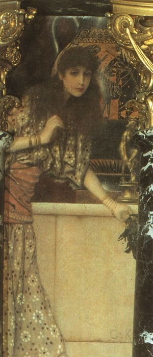 Girl from Tanagra by Gustav Klimt, 1890-91. Kunsthistorisches Museum wall painting