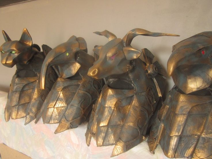 Anubis tutorial for making a full scale Stargate Anubis helmet