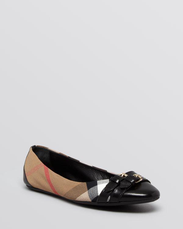 Burberry Cap Toe Ballet Flats - Avonwick