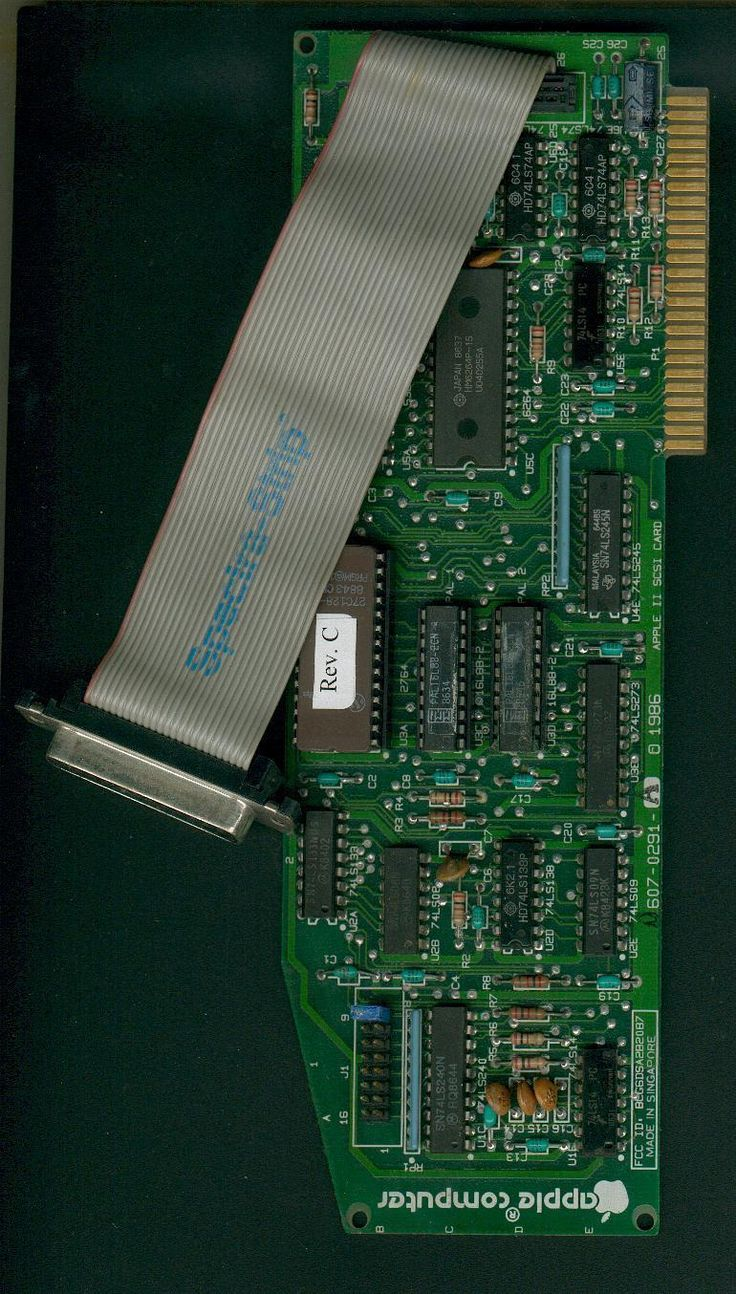Apple II SCSI card for Ii+, IIe, IIgs computers, rev C