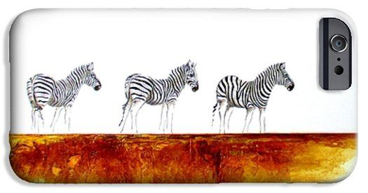 Zebra Landscape iPhone 6 Case by Tracey Armstrong
