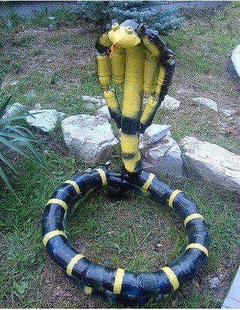 МК змеи из пластиковых бутылок. Мастер-классы | Домохозяйка