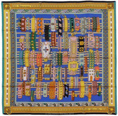 hermes paris colliers des chiens 90cm silk scarf carre by virginie ...