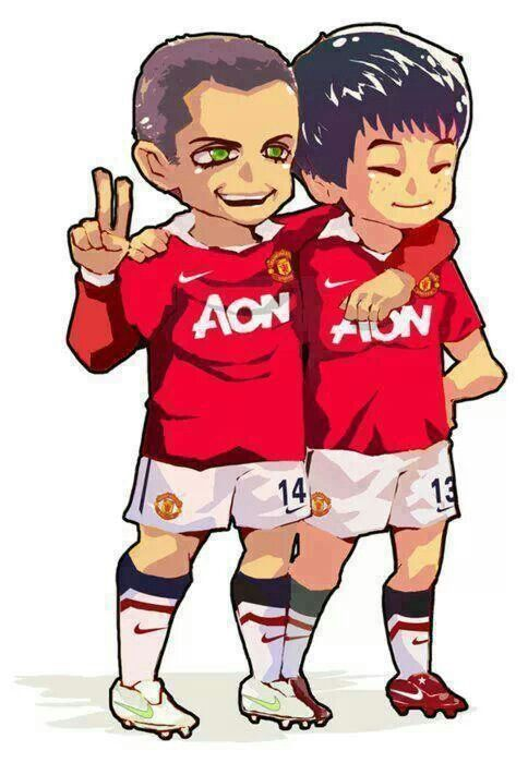 Chicarito and Park Ji Sung! Patrice and Ji-Sung Make A Better Pair! #TheReds #ManchesterUnited