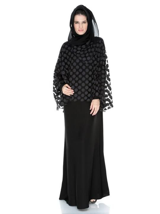The Hepburn, dotted lace cape over the highest quality neda fabric.