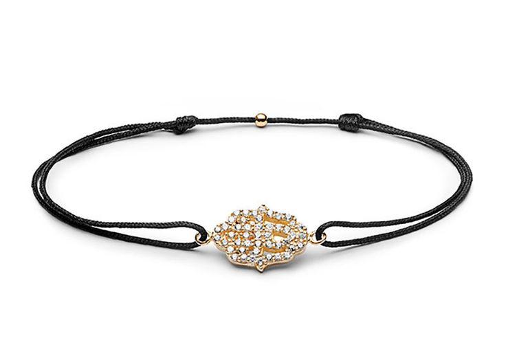 Charm'ed bracelet by Charm'ed Copenhagen - Fatimas Hand, Choose your own colour of ribbon www.charmedcopenhagen.com - #charmed #bracelet #danishdesign #eye #jewellery #armbånd #smykker #charmed_cph #rikkehandrecknovod