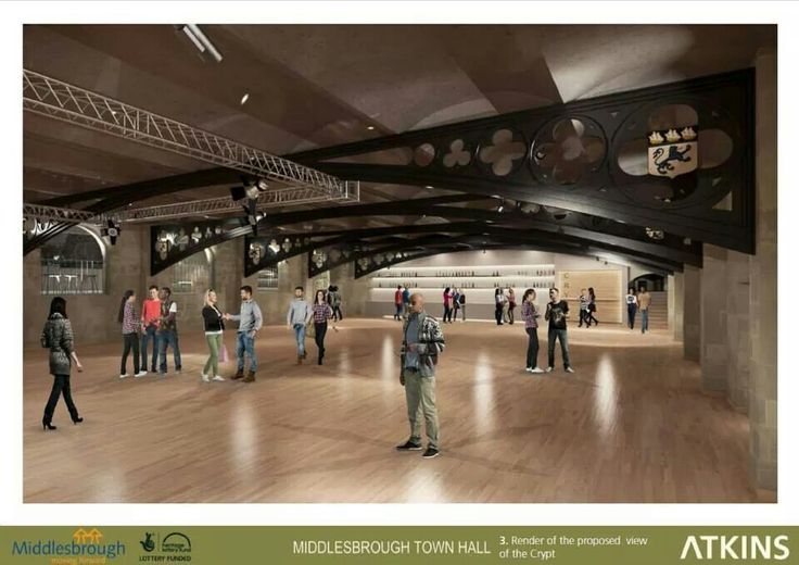 Proposed view of the Crypt, Middlesbrough Town Hall