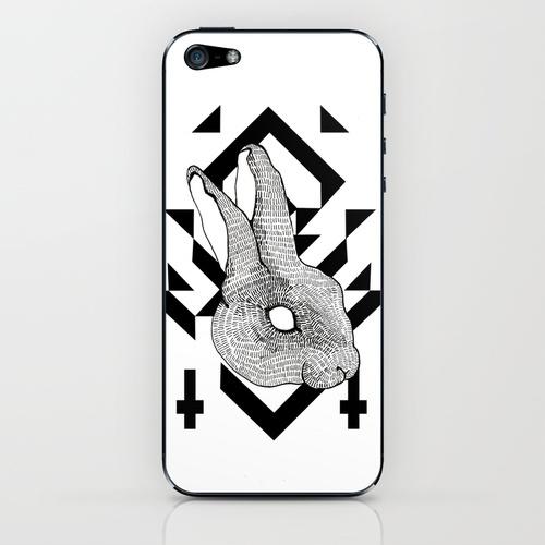 rabbit iPhone  iPod Skin