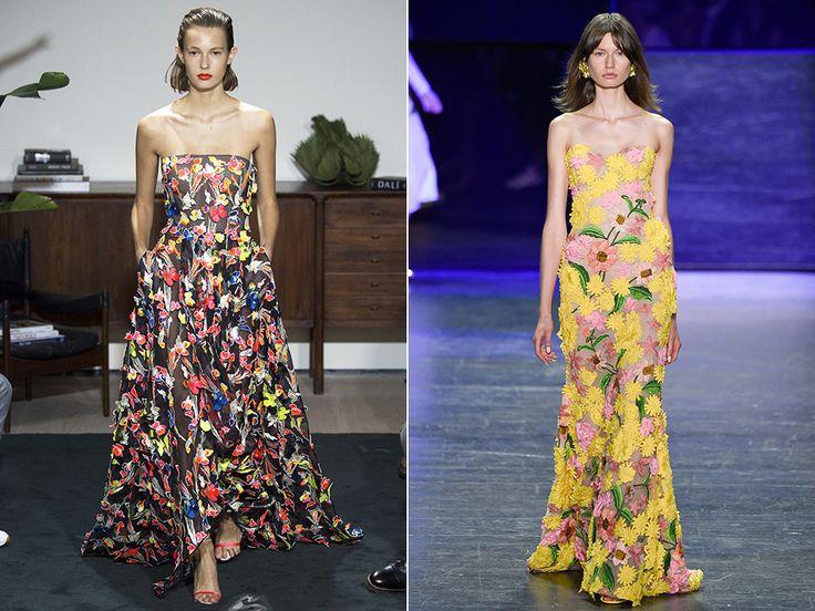 Платья с цветочным принтом весна-лето 2017