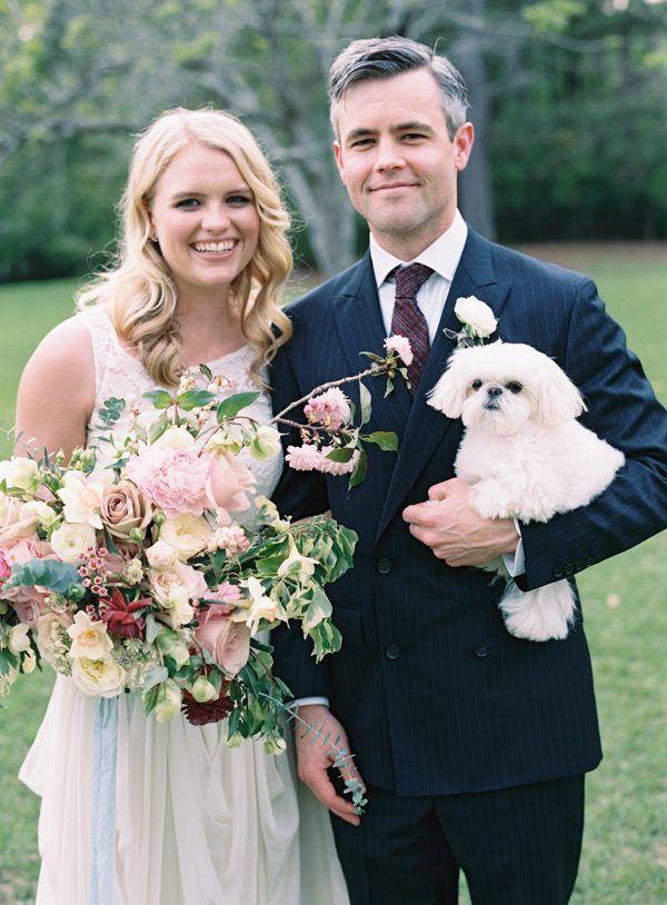 pets at weddings - photo by Austin Gros Photography http://ruffledblog.com/intimate-alabama-wedding