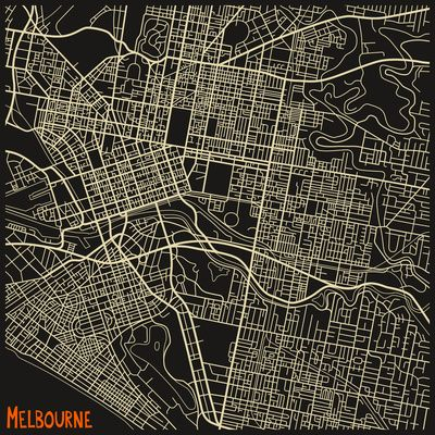 """Melbourne"" Art Print by Jazzberry Blue on Society6."