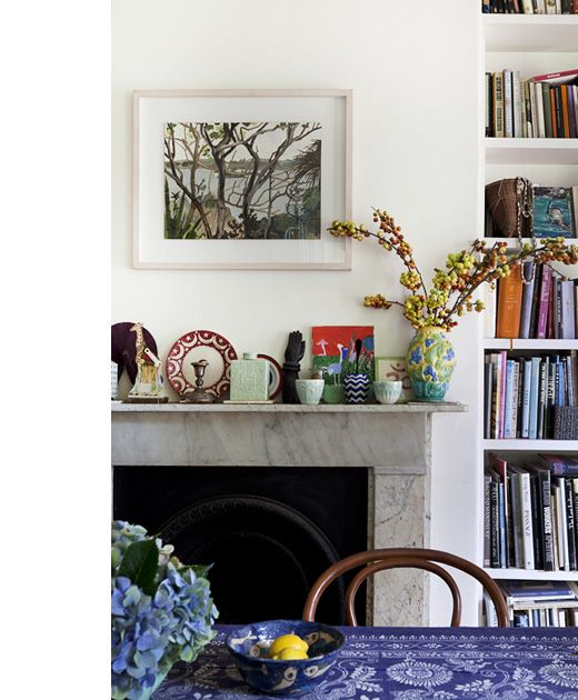 fireplace | http://thedesignfiles.net/2012/03/sydney-home-sally-campbell/#more-38532