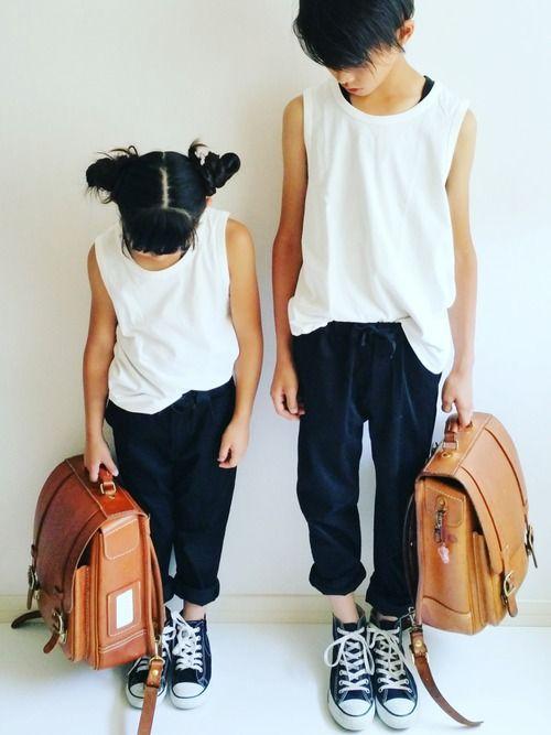 おはよう 息子&娘 小学校コーデ コメントはInstagramへどうぞ Instagram→→→su