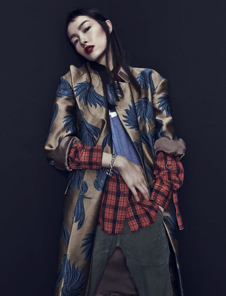 Fei Fei Sun, Heroine Magazine S/S 2016 by Emma Summerton & Dries van Noten coat Spring 2016