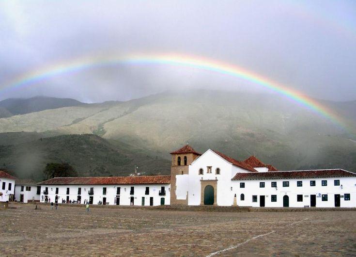 Rainbow over Villa de Leyva, Colombia