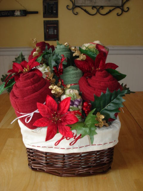 great gift idea for christmas basket filled with bath towels or kitchen towels christmas gift baskets gifts christmas