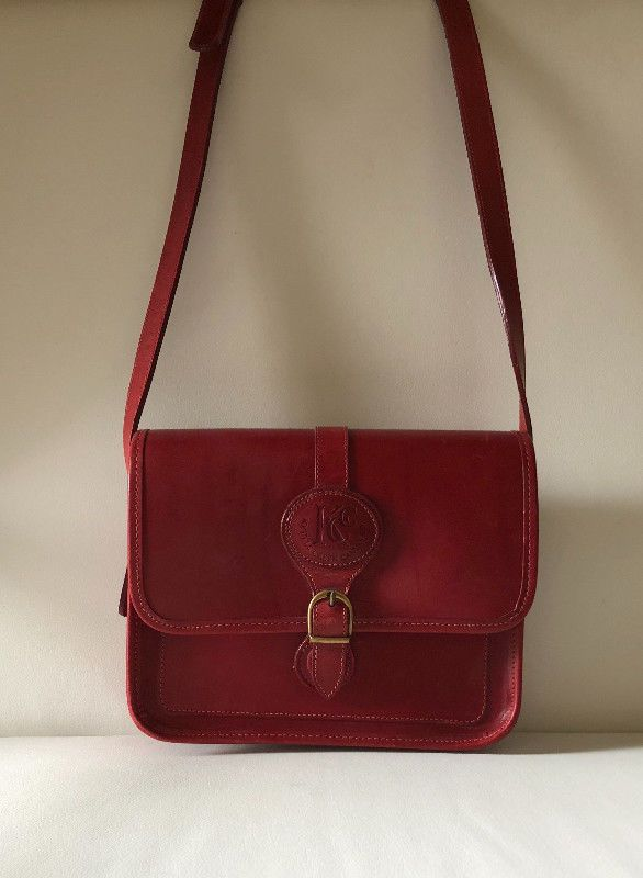 7f2aac0bc Vintage Red Leather Purse - Kettle Creek Canvas Company - Port Stanley, Ontario  Canada