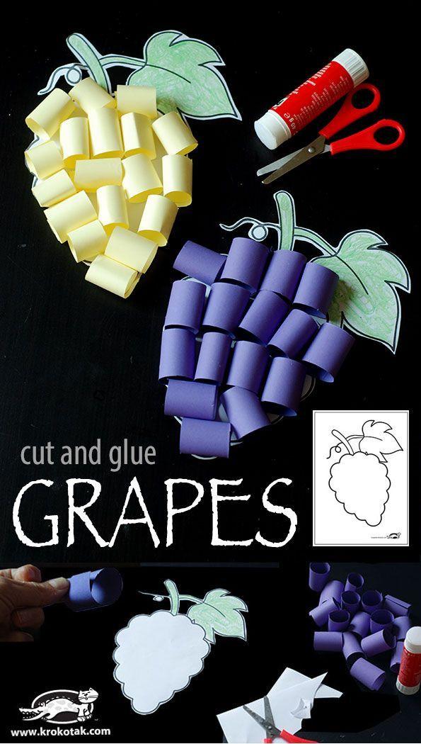 cut and glue GRAPES