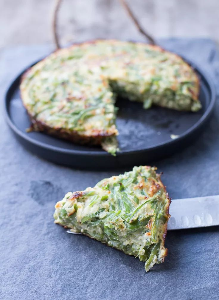Tortilla de porotos verdes, receta chilena