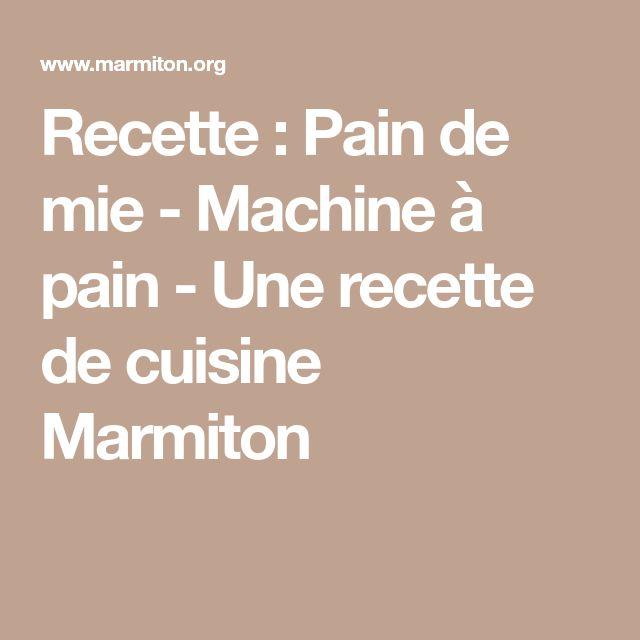 36 best recette dietetique a la machine a pain images on pinterest beignets bagels and donuts - Pain de mie machine a pain ...