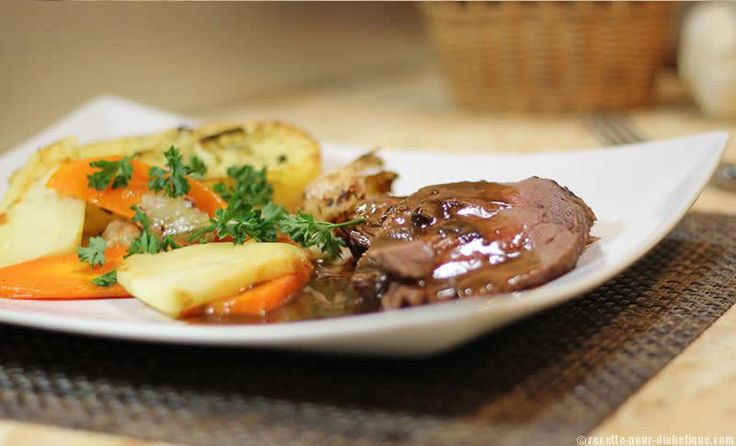 Rôti de filet de Boeuf et ses légumes au four
