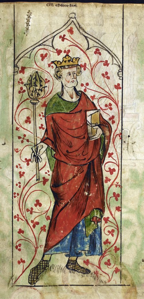 Royal_ms_20_a_ii_f005r_detail of a miniature of Edward the Confessor, England, early 14th c.