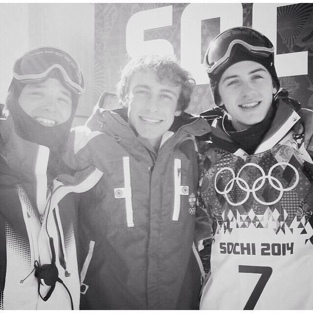 Adam, Craig and Mark when they were in Sochi