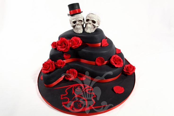 Gothic Wedding Cakes | Hochzeitstorte - Gothic Wedding › RITA-The Cakery, Torten der ...