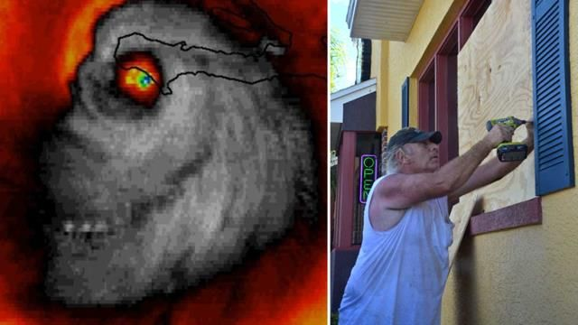 A satellite image of the storm cell seemed to foretell doom. (supplied)