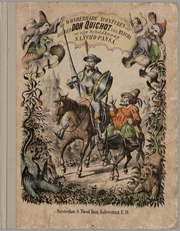 De wonderbare avonturen van ridder Don Quichot van Mancha en zijn schildknaap Sancho-Pansa / [Miguel de Cervantes Saavedra] ; geteekend door J.W.A. Hilverdink