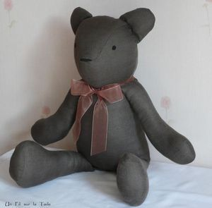 Tuto for  lovely Teddy Bear (à faire en lin avec un foulard en liberty)