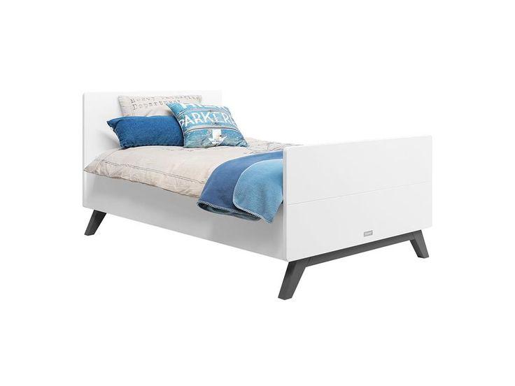 Lovely Buchenholz in Grey wash und das wei en Design macht das Bopita Juniorbett LEVI zu einem echten Blickfang Dannenfelser Kinderm bel