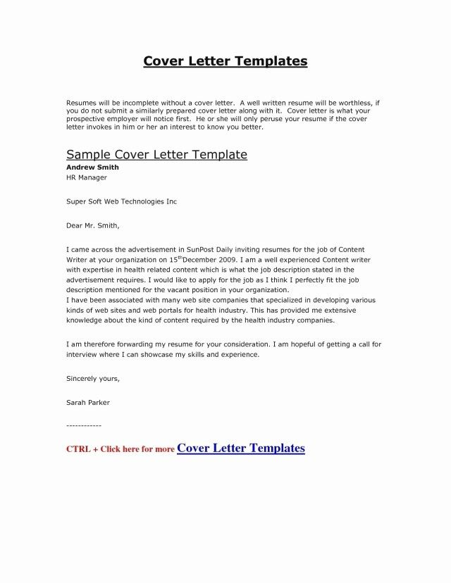 27+ Cover Letter Format Template Resume Cover Letter Example