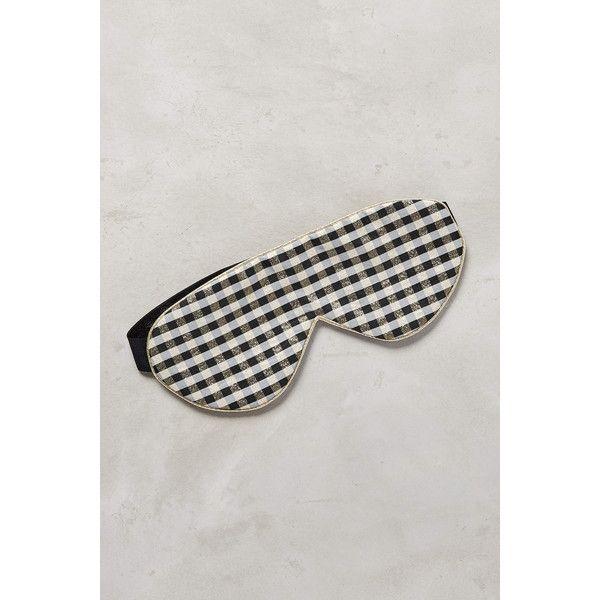 Gingham Sleep Mask ($38) ❤ liked on Polyvore featuring intimates, sleepwear and pajamas