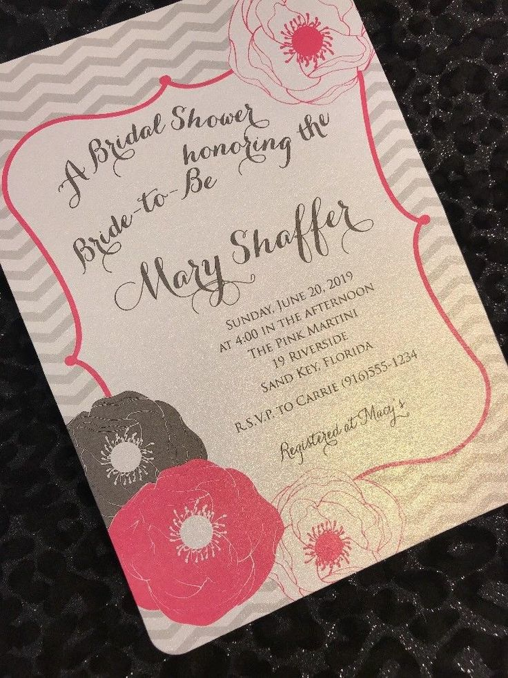 recipe themed bridal shower invitation wording%0A    Floral And Chevron Bridal Shower Invitations with Envelopes