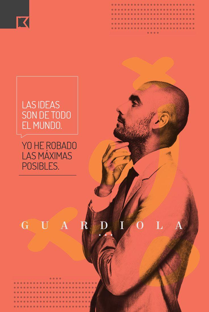 #Guardiola #cartel #poster #quotes #frases #espana #spain #futbol #kartelperu #creative #art # pep #champions #graphic #designer #grafico