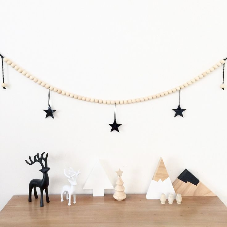 Luxe Monochrome Christmas Garland 🎄 limited stock