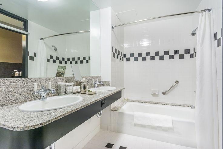Loft Double Queen Bathroom at Proximity Hotel
