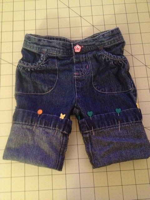 How to turn toddler/kid pants into shorts!  I need to try this with all of C's expensive pants that he's ripped knee holes in.
