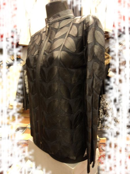 Buy Online Handmade Very Soft Genuine Lambskin Black Leather Leaf Jacket for Women. All Regular and Plus Sizes Available. Free Shipping , Returnable. [ BUY 2 SAVE $20 ] ...