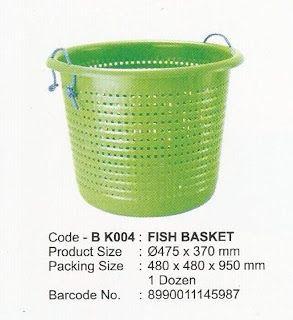 Selatan Jaya distributor barang plastik Surabaya: Keranjang ikan plastik atau fish basket merk Maspi...